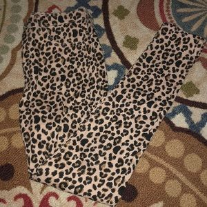 H&M Cheetah High Waisted Skinny Jeans